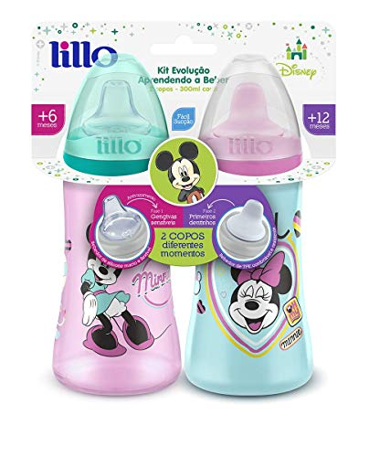 Pack 2 Copos Colors Disney - Lillo, Verde/Rosa