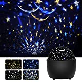KINGWILL Star Night Light Projector for Kids, Starry Sky Projector Light with 360 Degree Rotating, Color Changing Nursery Lamp for Baby Toddler Kids Children Adults Bedroom Party Decoration
