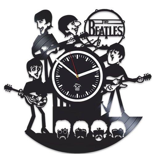 Kovides Rock Music Band, The Beatles Vinyl Clock, John Lennon and Yoko ONO, Vinyl Wall Clock, Handmade, Best Gift for Fans, Vinyl Record Clock, Silent, Wall Sticker, for Him