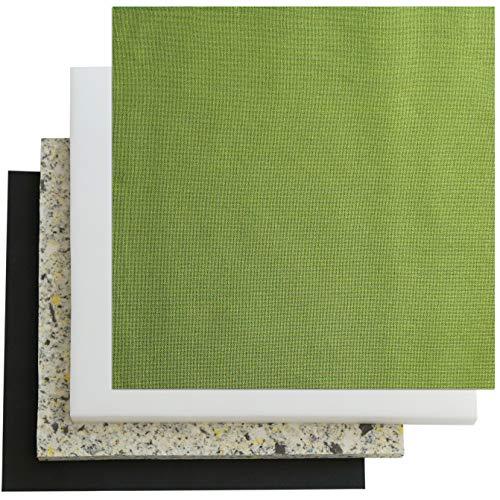 椅子の張替えセット 1脚分 国産平織布【通常サイズ】 (8438グリーン, 合計5cm厚)