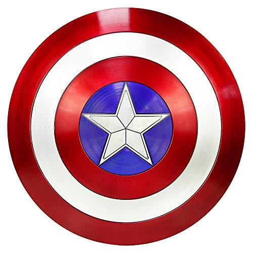 RXDRO Series Avengers Captain America Schild Full Metall,1:1 Filmversion KostüM Requisiten Superhelden KostüM Requisiten FüR Erwachsene/Kinder Bar Wanddekoration 47cm