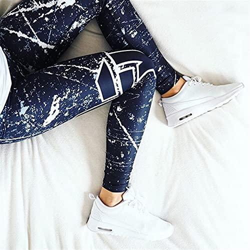 FDSJKD Pantalones Deportivos Mujeres Pantalones de Yoga Pantalones de Ejercicios Ropa de Fitness Correr Pantalones para Correr Gym Tights Estirado Estampado de Deportes Sportswear Yoga Leggins