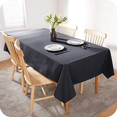 Amazon Brand - Umi Tischdecke Wasserabweisend Tischdecke Lotuseffekt Tischtücher 130x220 cm Grau