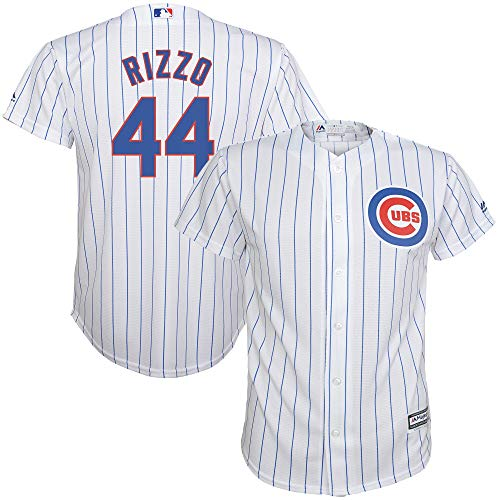 Outerstuff Anthony Rizzo Chicago Cubs Youth 8-20 White Home Cool Base Replica Jersey (Large 14/16)