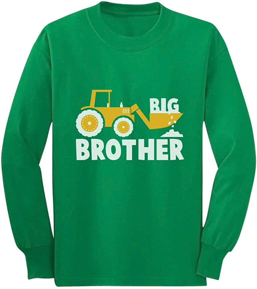 Big Brother Gift Tractor Loving Boy Toddler Kids Long Sleeve T-Shirt