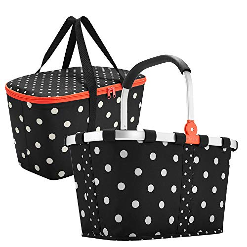 Reisenthel carrybag Mixed dots und coolerbag Mixed dots im Set - schwarz gepunktet
