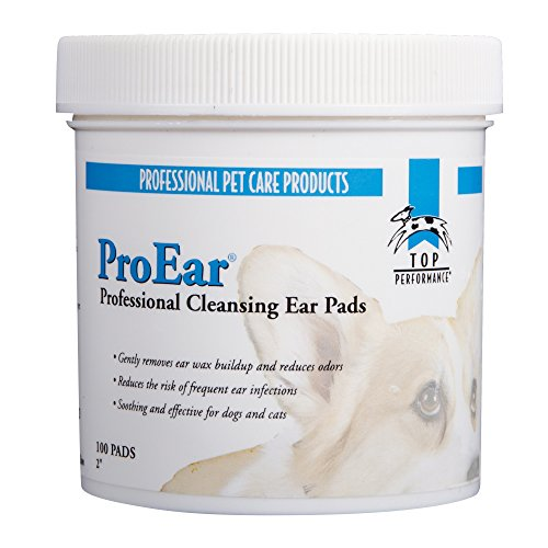 Top Performance ProEar Cleansing Pads — Safe and Effective Pads for Cleaning Pets' Ears, 100-Pack