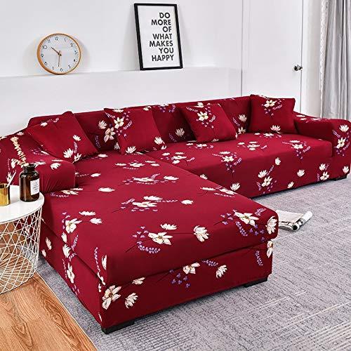 WXQY Funda de sofá en Forma de L Funda de sofá elástica Funda de sofá elástica Esquina de Toalla Funda de sofá con Todo Incluido Funda de Chaise Longue A2 3 plazas