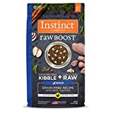 Instinct Raw Boost Senior Grain Free Recipe with Real Chicken Natural Dry Dog Food by Nature's Variety, 4 lb. Bag
