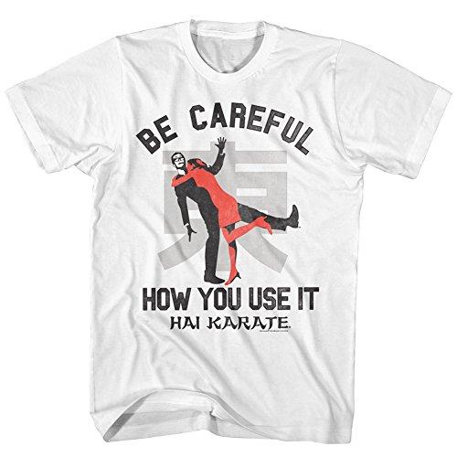 Hai Karate Aftershave fragancia Careful How You Use It Attack camiseta para adultos - Blanco - 3X-Large