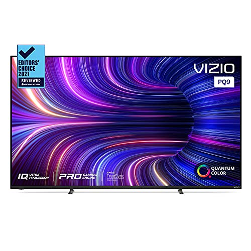 VIZIO 65-Inch P-Series 4K UHD Quantum LED HDR Smart TV w/Apple AirPlay 2 & Chromecast Built-in, Dolby Vision, HDMI 2.1, 4K 120Hz Gaming, Variable Refresh Rate with AMD FreeSync Premium, P65Q9-J