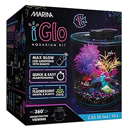 Marina iGlo 360 Aquarium Fish Tank Kit with LED Lighting 10L