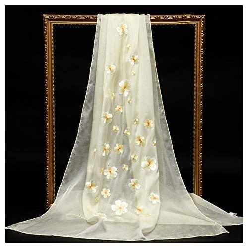 Bufanda Mantón Pañuelos de gama alta de la bufanda de seda de las señoras elegantes con estilo de bordado chino Chales de alta gama cajas de regalo, la mejor opción for las madres y las novias Elegant