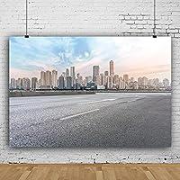 背景布 写真の背景都市の大きな建物のシルエット曇りの赤ちゃんパーティーポートレート写真スタジオ写真の背景-150x220cm