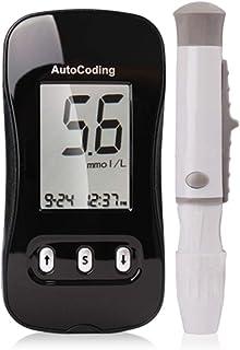 FJLOVE Medidor de glucosa en Sangre,Kit de Control de Diabetes Kit de Prueba de azúcar en Sangre con 1 medidor de glucosa y 50 Tiras reactivas de glucosa (codificación automática)
