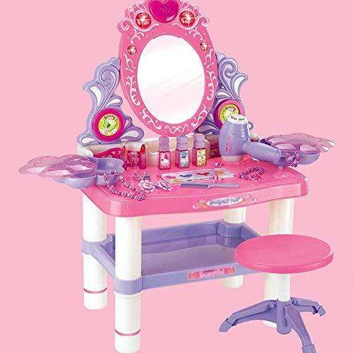 Tocador para nios Juguete para tocador de princesa ligera para nios Juguete para nia Simulacin para vestir Juguete para tocador para nios Juguete para tocador para nios (Color: Rosa, T