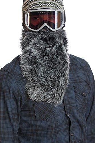 Beardski Máscara para Esquiar Barba adjunta Wolf - Gris/Negro