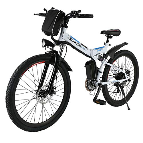 ANCHEER E-Bike Elektrofahrräder E Klapprad, 36V Akku, 26 '' faltbares Elektrofahrrad mit 250W Motor und 21 Gang-Schaltung, Pedelec für Herren und Damen