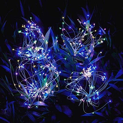 Outdoor Solar Garden Lights 105 LED Solar Powered Decorative Stake Landscape Light DIY Flowers product image
