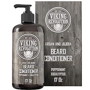 Beard Conditioner w/Argan & Jojoba Oils - Softens & Strengthens - Natural Peppermint and Eucalyptus Scent- Beard… 8