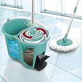 CLEANmaxx Mopa rotativa con Sistema de filtrado de 2 cámaras. Juego de mopa y Cubo, el Agua Sucia es filtrada