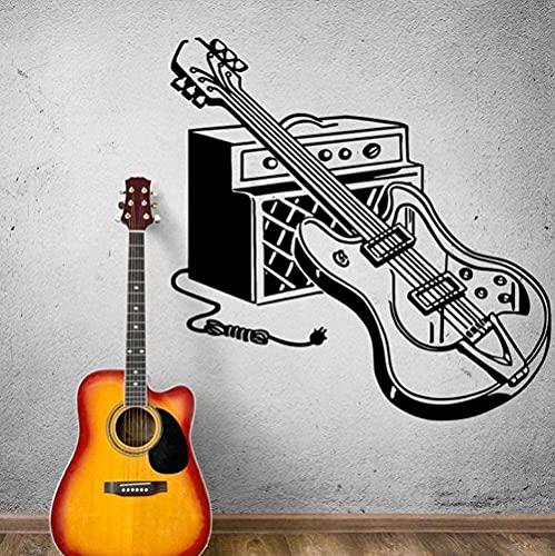 Instrumento de guitarra eléctrica calcomanía de pared Rock Pop M Ical Tools...