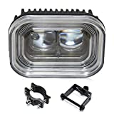 4' Universal Motorcycle Led Headlights Driving Lights DRL Driving Running Lights LED Spotlight Headlight Work Light Hi/Lo Beam Headlamp Spotlights for All Motorcycle ATV Truck E-Bike Car (1 Pack)