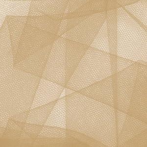 Falk Fabrics 54'' Apparel Grade Tulle Beige Fabric