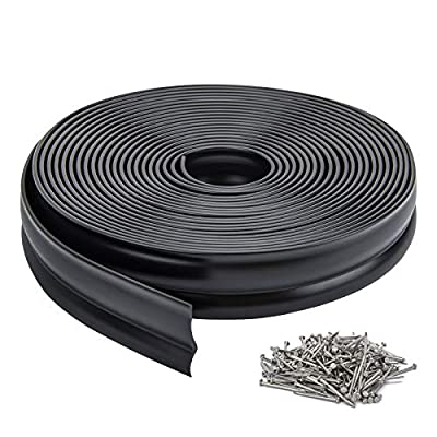 Weatherproofing Universal Sealing Professional,Garage Door Weather Stripping Top and Sides Rubber Seal Strip Replacement (33Feet White)