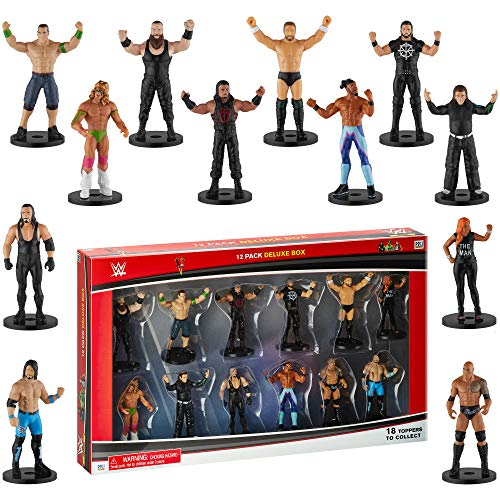 Toppers para lápices superestrellas WWE, Juego de 12 - Toppers de superestrellas de...