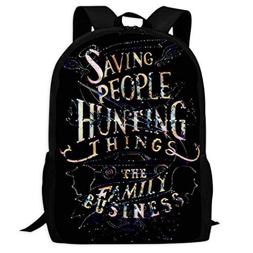 XCNGG Erwachsenen-Vollformat-Druckrucksack Lässiger Rucksack Rucksack Schultasche PPKIBYY2 Supernatural School Backpacks 3D Printed Bookbags Daypack Shoulder Lightweight Bag Laptop, Fashion Large Capa