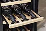 CASO WineDuett 210 | Weinkühlschrank für 21 Flaschen Rotwein | 2 Zonen für 8-18°C und 10-16°C, LED und Touch, 7 Böden aus Holz, UV-Filter, Edelstahl - 2