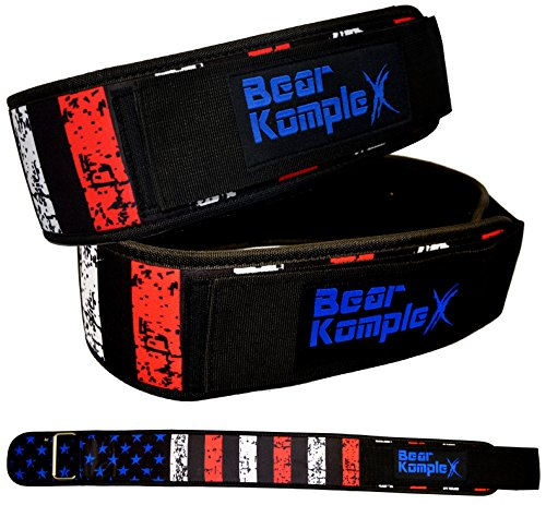 Bear KompleX 4' Straight Weightlifting Belt for Powerlifting, Squats, Weight Training and More. Low Profile with Super Firm Back for Maximum Stability & Exceptional Comfort. Straight Star S