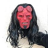 XWYWP Máscara de Halloween Hellboy: Rise of the Blood Queen Máscara Cosplay Hellboy Call of Darkness Máscaras de látex Casco, Horror Fiesta de Halloween Props Drop Ship Hellboymask