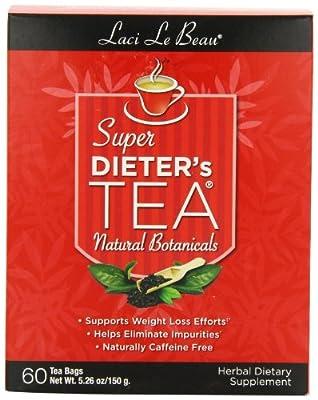 Laci Le Beau Super Dieter's Tea, All Natural Botanicals, 60 Count Box (Pack of 2)