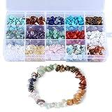 LQKYWNA Kit de fabricación de cuentas de piedra para joyas, collares, pulseras, pendientes, con...