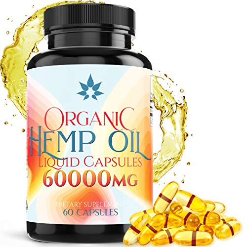 Hemp Oil Capsules - 60000mg for Pai…