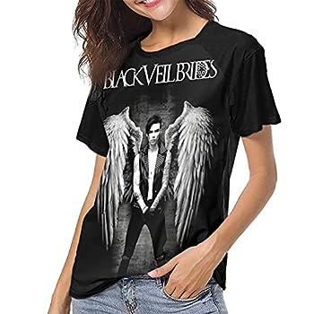 RandShton Andy Biersack Women s T-Shirts Fun Fashion T-Shirts Music Round Neck Short-Sleeved T-Shirts X-Large Black