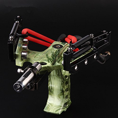 Material:stainless-Steel Size:30X15X15.5Cm Slingshot With Infrared Sight, Laser Flashlight, A Full Range Of More Precise Aiming Point,Spring Accelerates, Strength Is Greater Can Be Installed A Arrow Pad,Used As A Bow And Arrow Launchers(Does Not Cont...