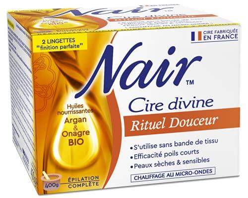 Nair Cire Rituel Douceur huiles bio argan et onagre - la boite de 400 g