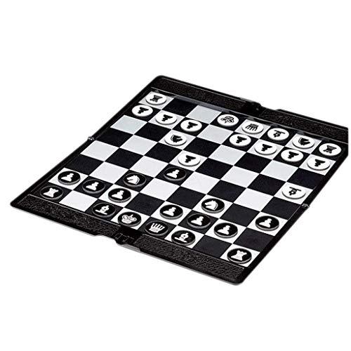Zunruishop Ajedrez magnético portátil Planas ultrafinos de la Cartera De Niños Mini Internacional de Viajes Elefante fácil Llevar Family Game Juego de ajedrez