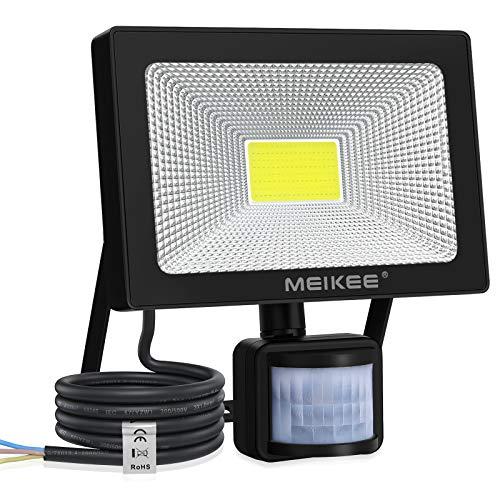 MEIKEE 30W Projecteur LED Avec Détecteur 3000LM Blanc Froid 6500K Spot Led Avec Détecteur de Mouvement Eclairage Exterieur Etanche IP66 Parfait pour Jardin, Patio, Terrasse, Escalier, Allée