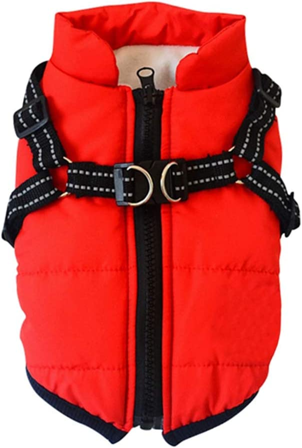 3XL Dog Costume For Small Medium Large Breed Dogs Boy//Girl Pet Waterproof Cold Weather Clothes Outfit Vest S//M//L//XL//XXL Length:50CM//19.69; Chest:68CM//26.77 , Black 2 In 1 Dog Winter Warm Cotton Coat Jacket With Durable Chest Strap Harness