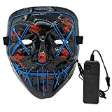 Digcreat Halloween Glowing Mask, LED Light up Masks for Gifts, Festival, Halloween Party(Blue)