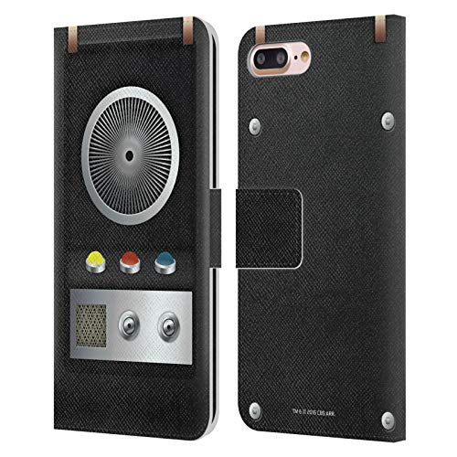 Head Case Designs Officially Licensed Star Trek Communicator Gadgets Leather Book Wallet Case Cover Compatible with Apple iPhone 7 Plus/iPhone 8 Plus