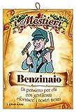 KUSTOM ART Quadro Quadretto Serie Arti Mestieri Professioni Caricatura con Pensiero Dedica Stampa Laser su Legno MDF Alta qualità Made in Italy - Idea Regalo - Benzinaio