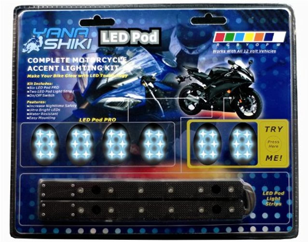 Yana Shiki LK-2187 Blue 2-Strip/6-Pod Lighting Kit with Black Base