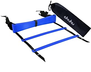 Ohuhu Agility Ladder, Speed Ladders for Soccer Football Speed Agility Training, Multi Choice: 8-Rung, 12-Rung