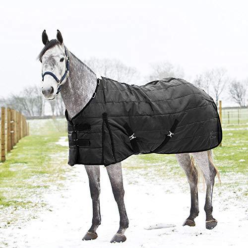 HORZE Nevada Winter Stable Blanket, 200g - Black - Size: 72