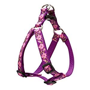 LupinePet Originals 3/4″ Rose Garden 15-21″ Step In Harness for Small Dogs
